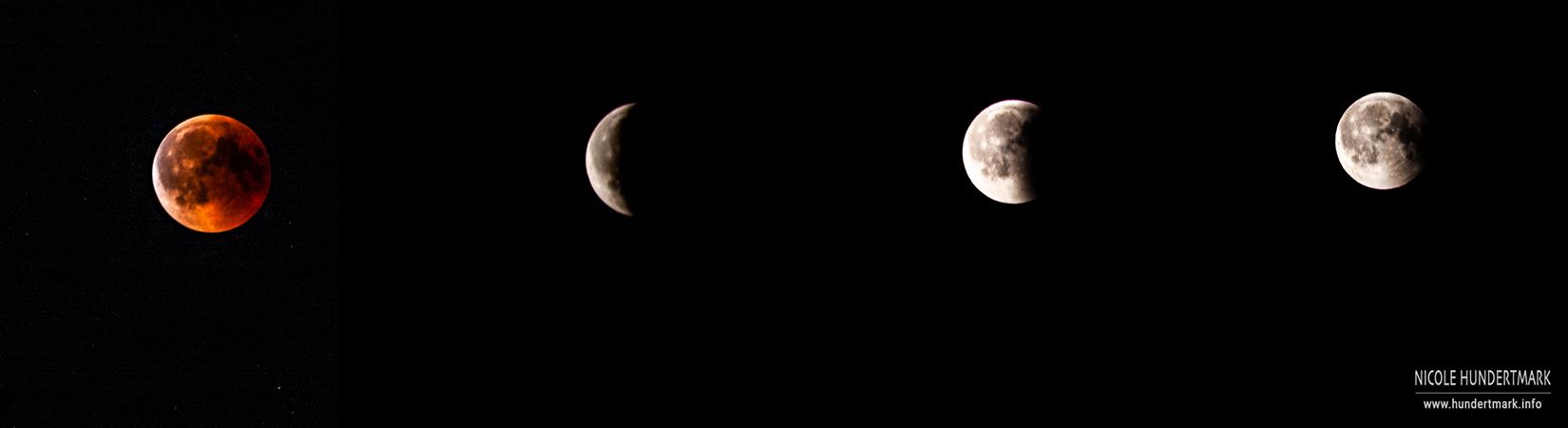 Mondfinsternis und Blutmond über Köln