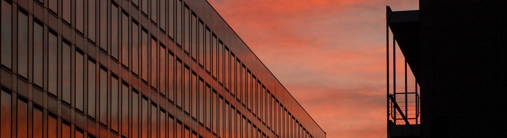 Herrlicher Sonnenuntergang in Köln