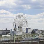 Blick auf das Riesenrad von der Deutzer Brücke aus